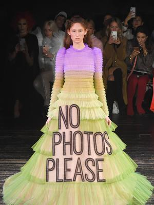 Modern message: the pair's slogan couture