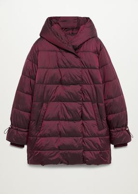 Women's Maroon quilted coat, €79.99 from Mango