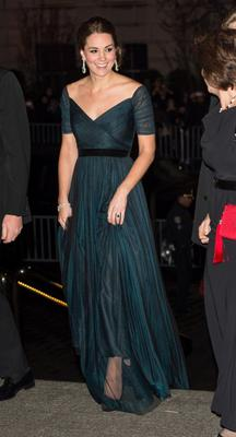 Kate changed her hair when she rewore her navy Jenny Packham dress