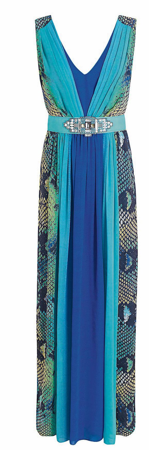 Blue snake-print dress from Butterfly by Matthew Williamson (1 €132)