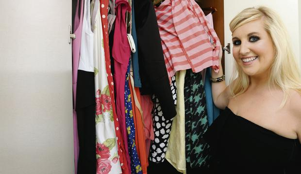 It's only a number: Kate Olohan has size 10,12, 14 and 16 garments in her wardrobe.