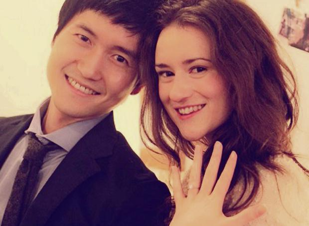 Emilee Jennings and finace Young-Hwi Cho