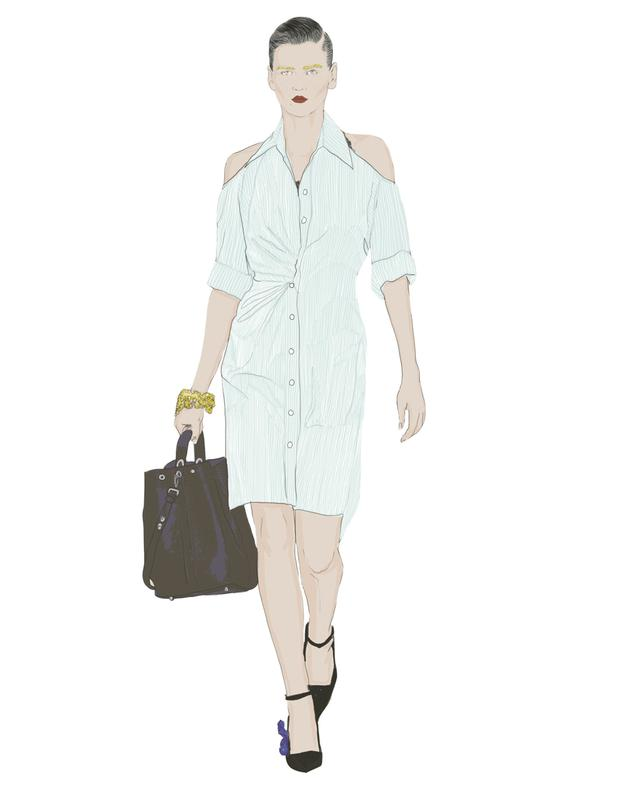 Illustration by Moona Alqahtani, inspired by Christian Dior.