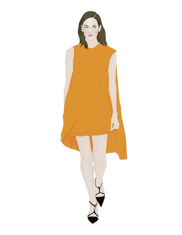 Illustration by Moona AlQahtani inspired by Narciso Rodriguez