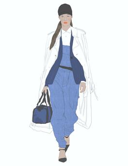Illustration by Moona AlQahtani; inspired by DKNY SS/14