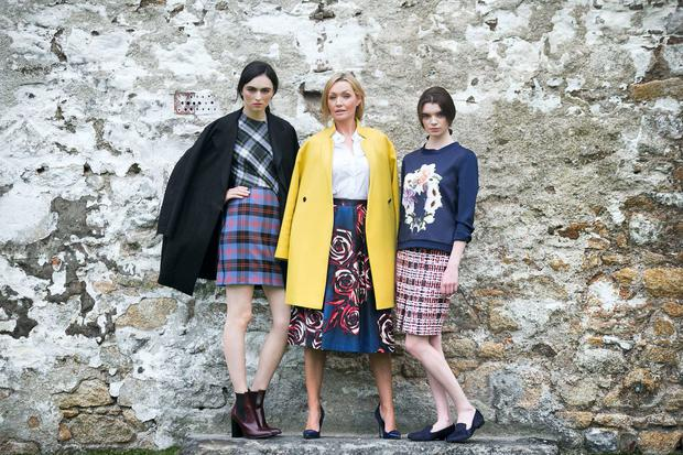 Pictured are models Vivienne Connolly, Cat and Maria showcasing looks from 'Trend Translation'