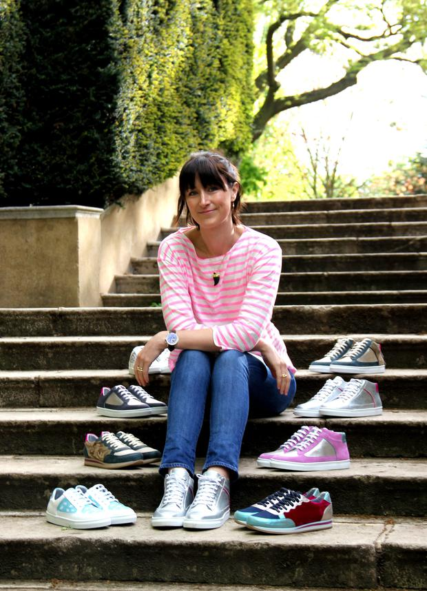 Chic: Rose Rankin and her sneakers