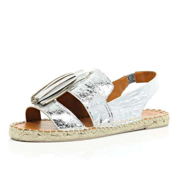 Chic cheat: silver-tasselled espadrilles, €25, from River Island