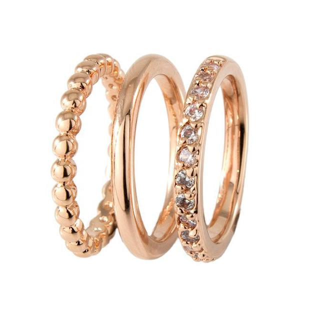 Set of stacking rings, €99, Keanes Jewellers, keanes.ie