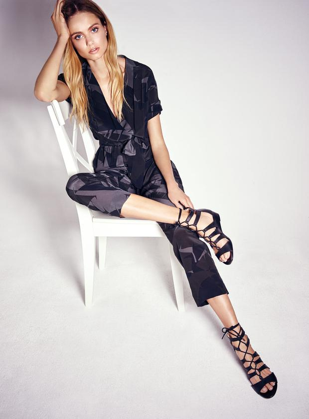 Principles by Ben De Lisi grey and black print jumpsuit, €67.50