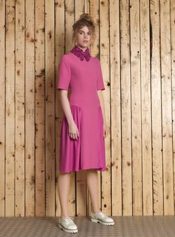 Dress, €299; collar, €189; both Manley, Arnotts