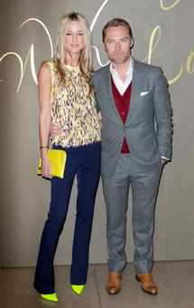 Ronan Keating pictured with his wife, Storm.