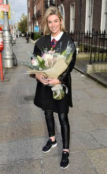 Pippa O'Connor Ormond: trainers and a casual winter coat. Photo: VIPIreland.