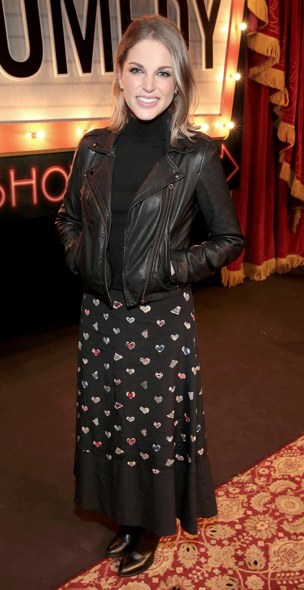 A skirt somewhere in between: Amy Huberman.