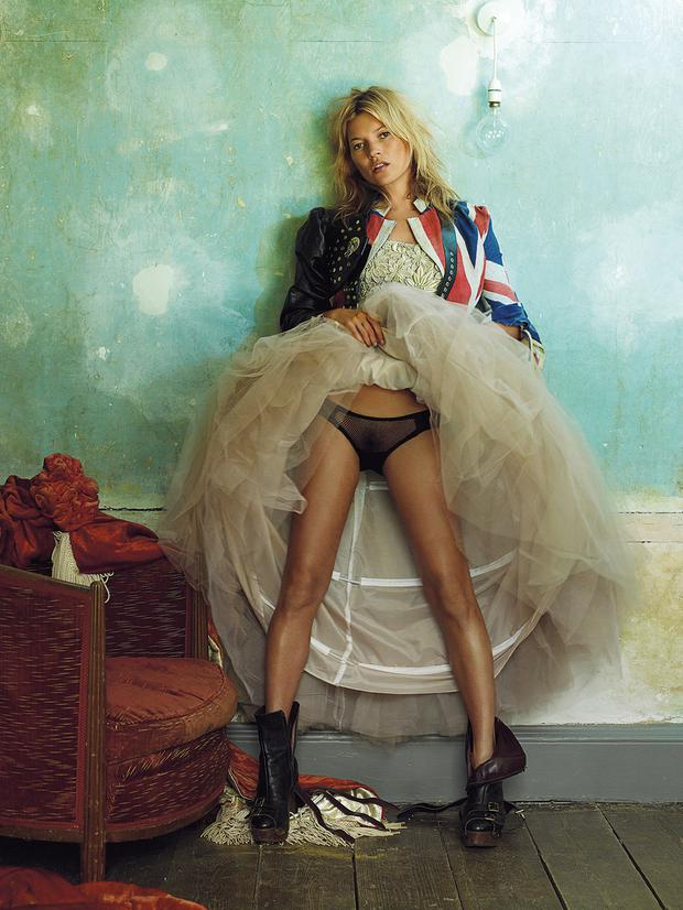 Cover girl: Kate Moss photographed by Mario Testino in 2008.
