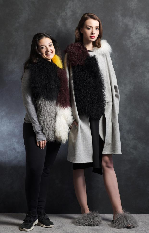 Giovanna Borza with model Lauren wearing pieces from her collection.