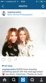 Long bobs: Angela Scanlon and Amy Huberman.
