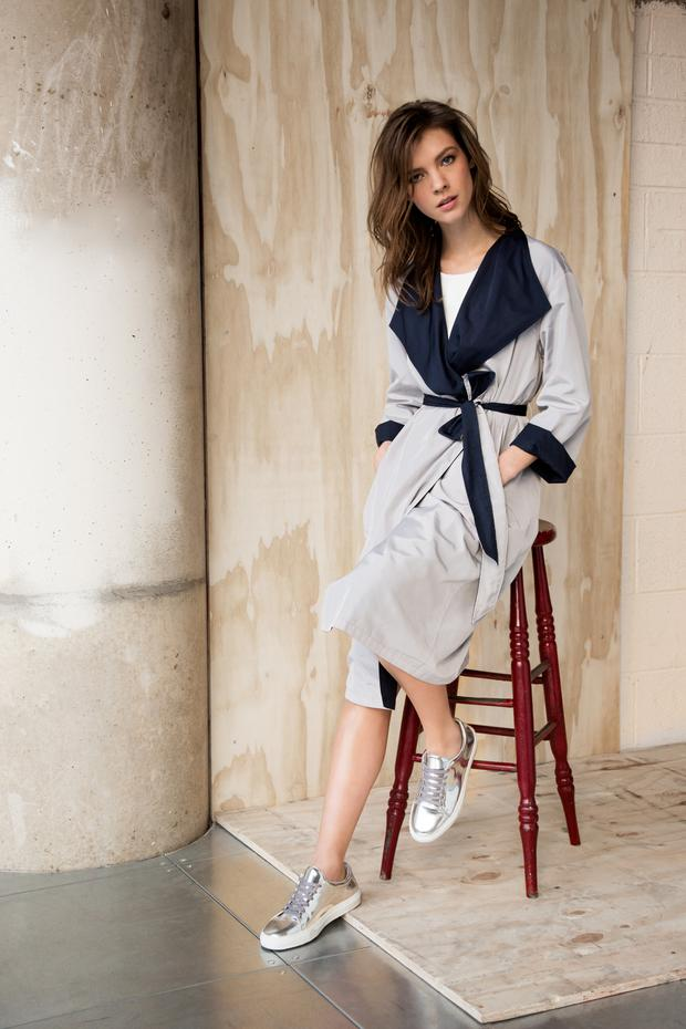 Reversible coat, €129, available in grey/blue from Carolyn Donnelly's The Edit at Dunnes Stores.