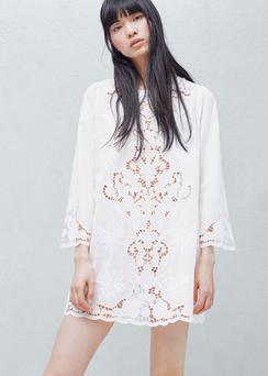 Embroidered-cotton dress from Mango.