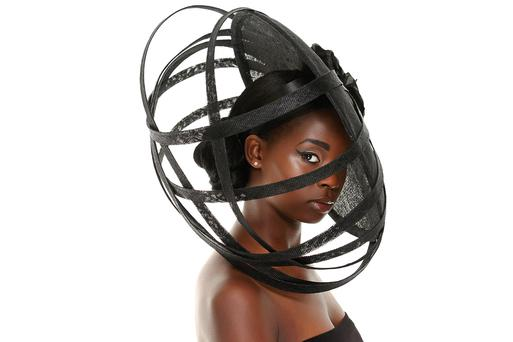 A piece from award-winning Irish milliner Jennifer Wrynne.