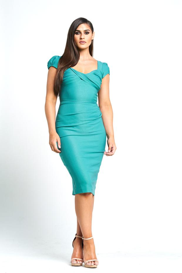 Dress, €215, Stop Staring, Starla, 27 South William St, D2, tel: (01) 677-0799, or see starla.ie; prices to rent, €60- €250; to buy, €60-€950