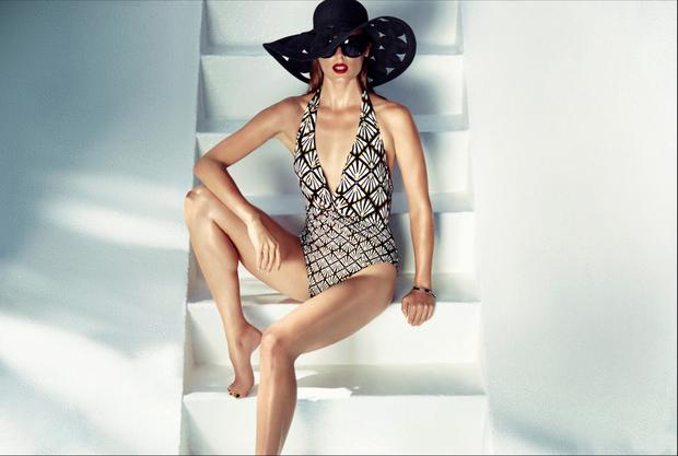 Biba swimsuit, €67 and hat, €31, House of Fraser, Dundrum Town Centre.