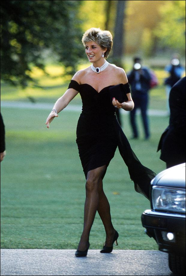968aeaba397b Princess Diana (1961 - 1997) arriving at the Serpentine Gallery, London, in  a gown by Christina Stambolian, June 1994. (Photo by Jayne Fincher/Getty  Images)
