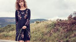 Floral embroidered dress, €28, available now. Also comes in a polka dot print
