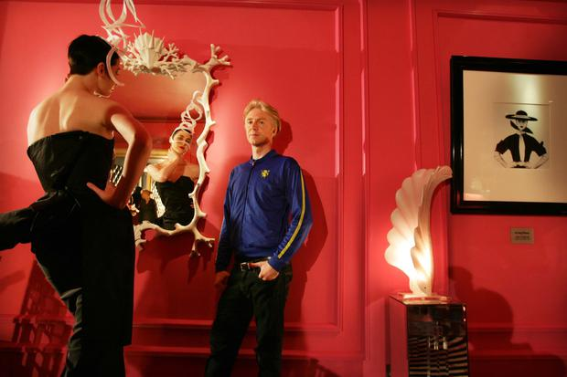 Erin with hat designer Philip Treacy in Galway