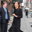 In dresses, the hemline adds enough interest that even in plain black, as seen on Maggie Gyllenhaal in Monse, it makes for an immediately striking and impressive look. GC Images