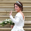 Showstopper: Eugenie wowed guests with her Peter Pilotto wedding gown. Photo: Getty
