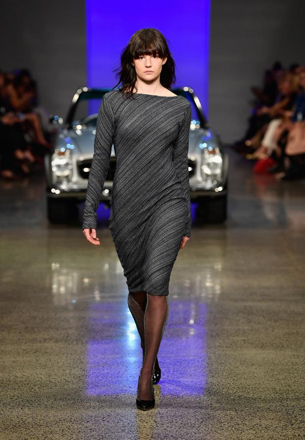 Top designers gave black tights the thumbs up on the catwalks. Photo: Getty