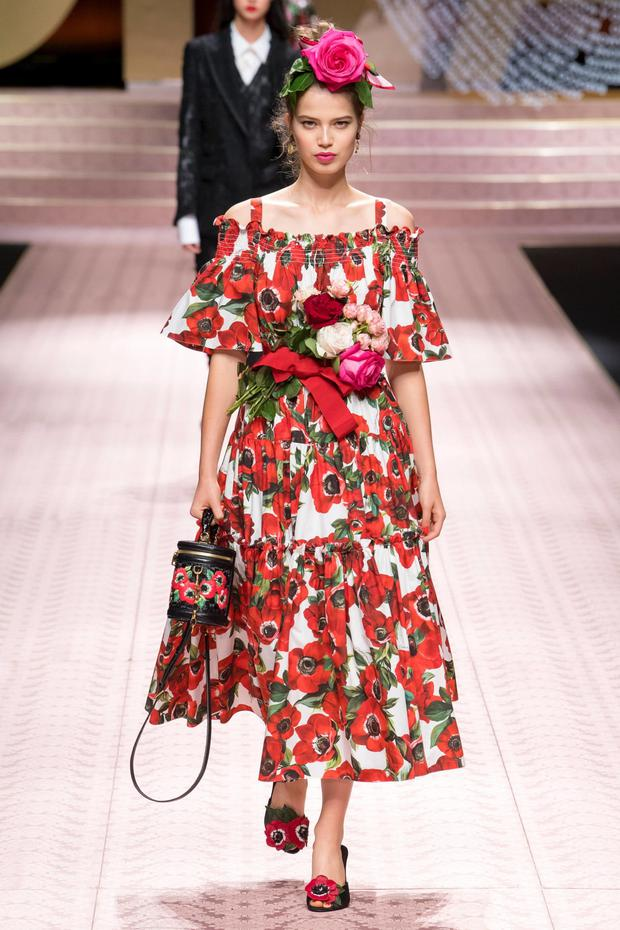Dolce & Gabbana poppies print dress (available in a shorter version), €995