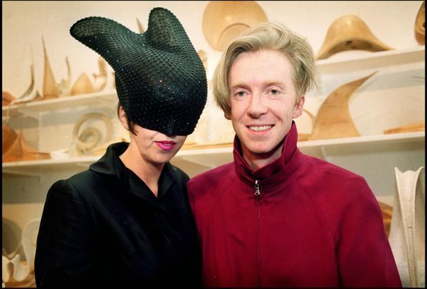 Isabella Blow and Phillip Treacy. Photo: Tony Gavin