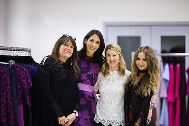 57c935ee5944e Niamh O'Neill with fellow designers Caroline Mitchell, Sarah Murphy and Sara  O'Neill at the CIFD show. Photo: Siobhan Hennessy