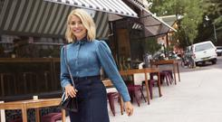 Feeling blue: The Holly Willoughby 'edit' for her second season as an ambassador at M&S includes this denim shirt with ruching on the shoulders, €47.50, and dark skirt, €34