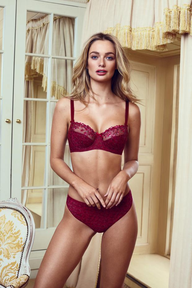 Red 'Lola' animal print bra, €50, available 30F-38G, matching red thong, €24, sizes S-L