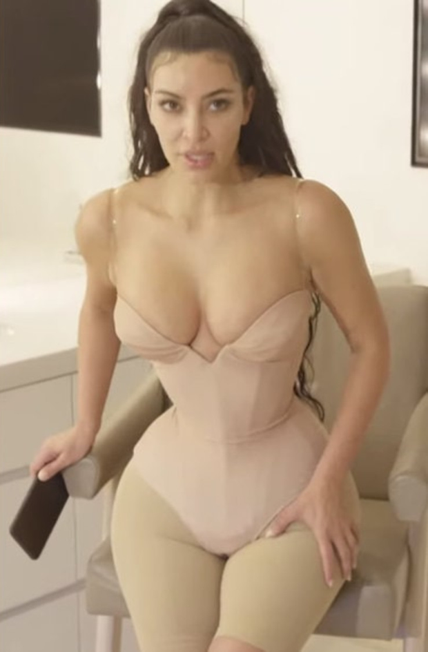 Kim Kardashian in her custom-made corset