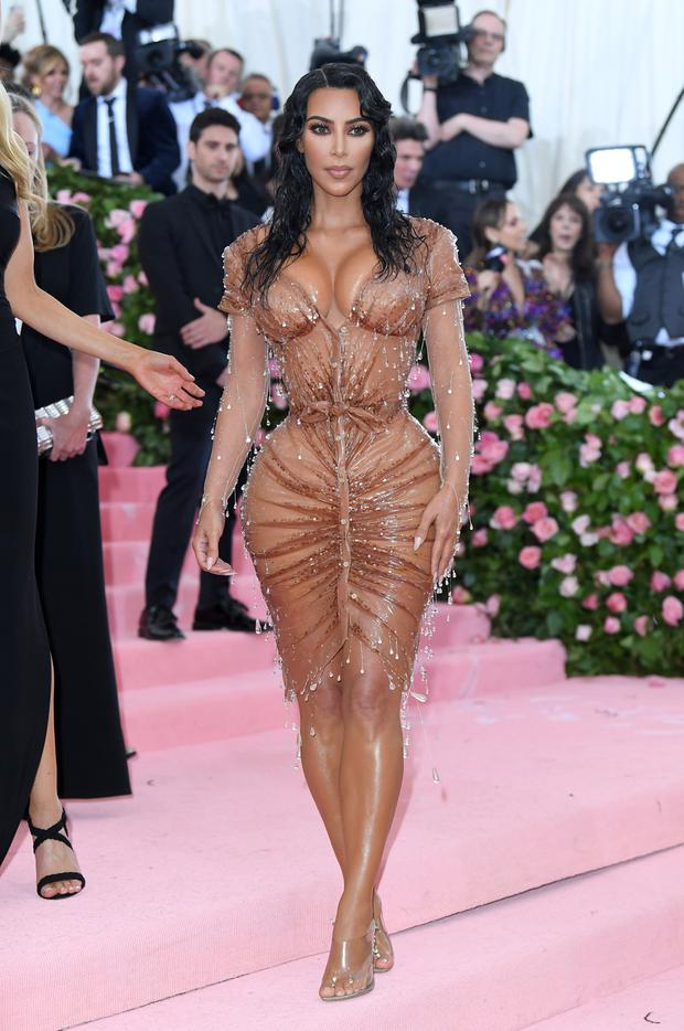 Kim in her corset at the Met Gala. Photo: Getty