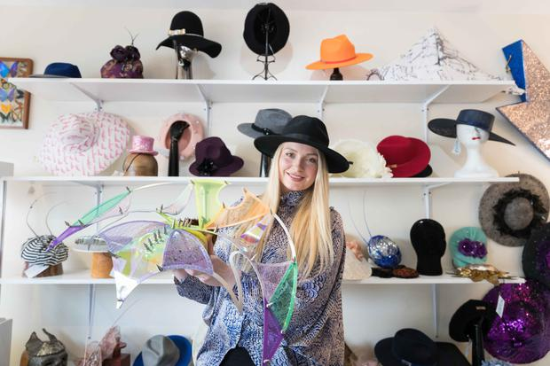 Hats off: Margaret O'Connor in her Ennis boutique. Photo: Eamon Ward