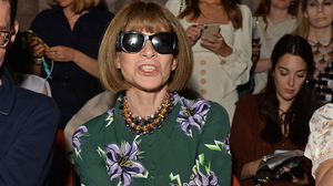 Anna Wintour in the front row to watch Simone Rocha's collection. Photo: Getty Images for BFC