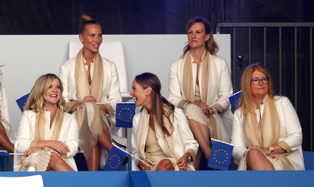 The women and friends of Team Europe during the opening ceremony.  Reuters