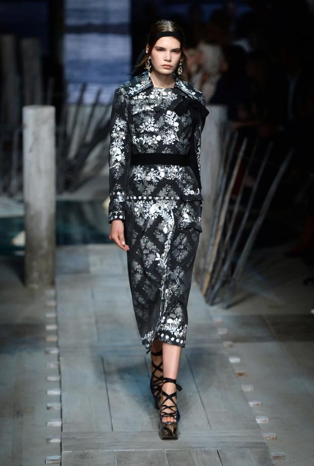 Flash of elegance: Erdem showed pattern and brocade in their Spring/Summer 17 collection