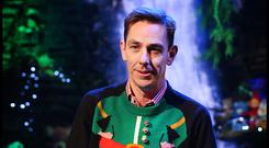 Elf yourself: Ryan Tubridy wears a festive jumper while hosting the 'Late Late Toy Show'
