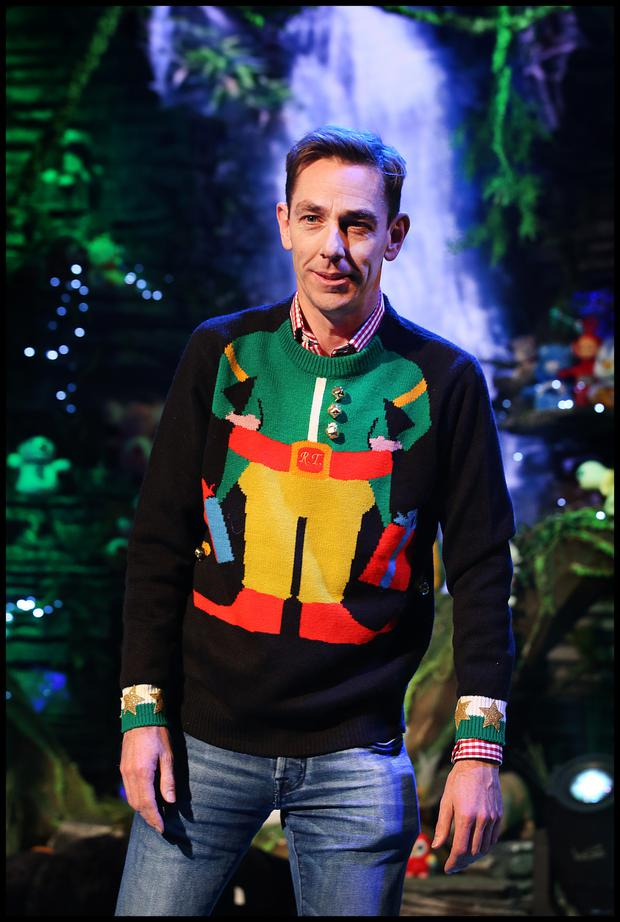c364644fb3 Elf yourself: Ryan Tubridy wears a festive jumper while hosting the 'Late  Late Toy