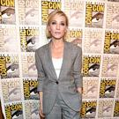 Cate Blanchett in her check suit at Comic Con