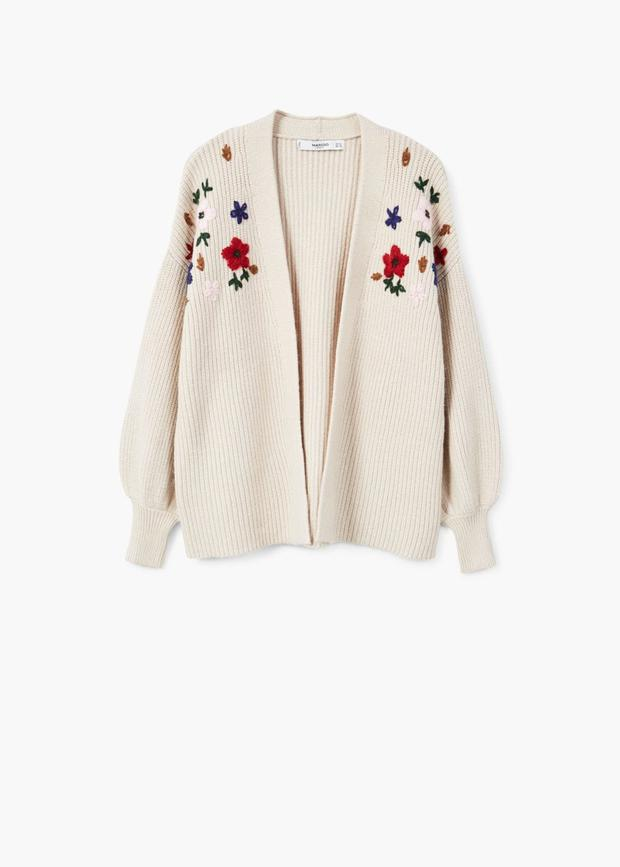 Floral cardigan, €49.95 from Mango