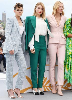 Suit up: Stewart, Seydoux and Blanchett at Cannes