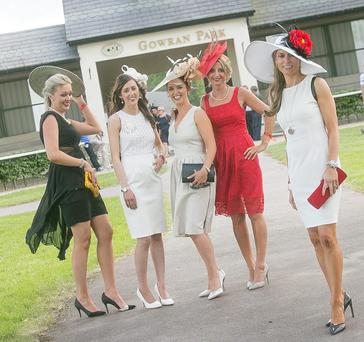 Best dressed winner at Gowran Park Racecourse Deirdre Shefflin (right) with finalists, from left, Deirdre Kelly from Carlow, Claire Garrick from Athlone, and Frances Walsh and Trish O'Brien from Co Kilkenny