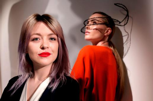 CREATE: Laura Kinsella shows off her talents with the help of model Sarah Morrissey